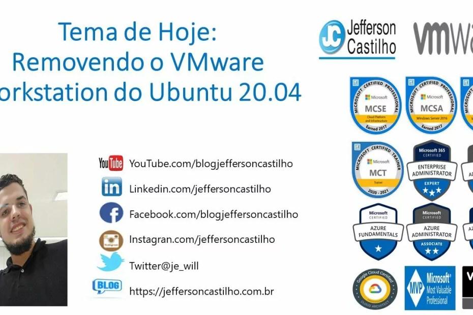 Removendo o VMware Workstation do Ubuntu 20.04