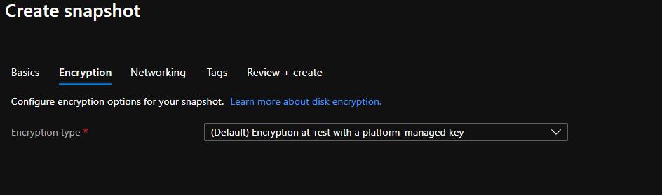 Snapshot de um disco no Microsoft Azure
