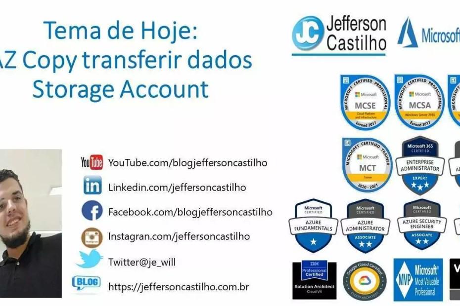 AZ Copy transferir dados StorageAccount