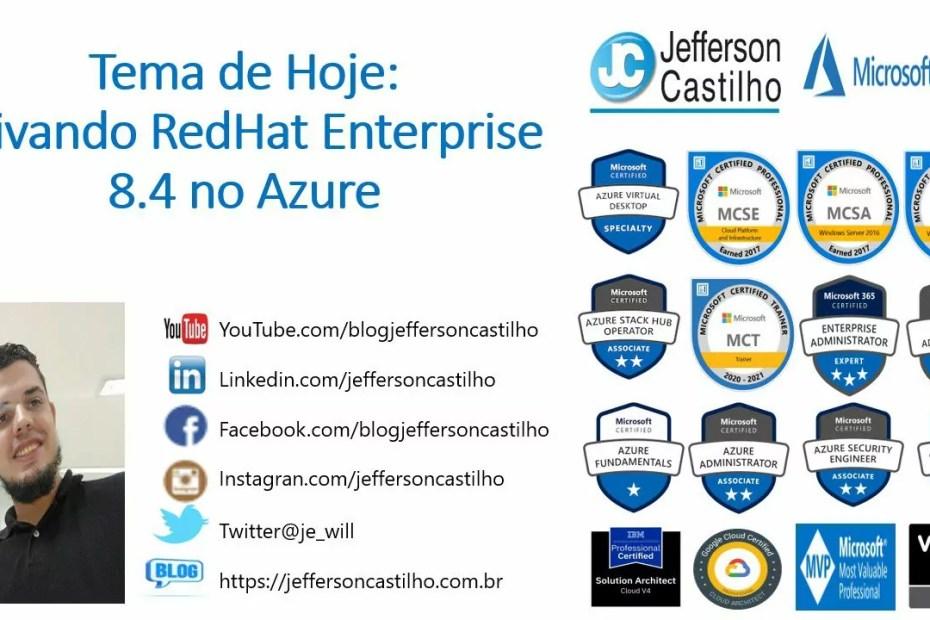 ativando redhat_enterprise_8.4 no_azure_01