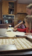 Raviolis are perfect for large family gatherings--there's lots of work to do!