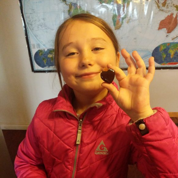 Maezy makes homemade gummies with elderberry juice from elderberries we collected on the ranch, to boost immunity in the winter months.