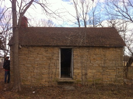 Stephen Smith, Newell stone cabin, west side door,keith 2 10 2013