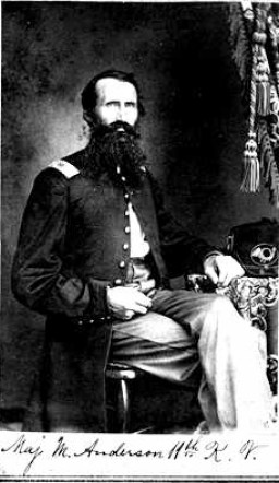 Maj. Martin Anderson, photo from ancestry.com, Report of the Adjutant General, Kansas, National Archives
