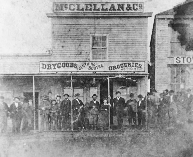 McClellan store SE corner of square 1871