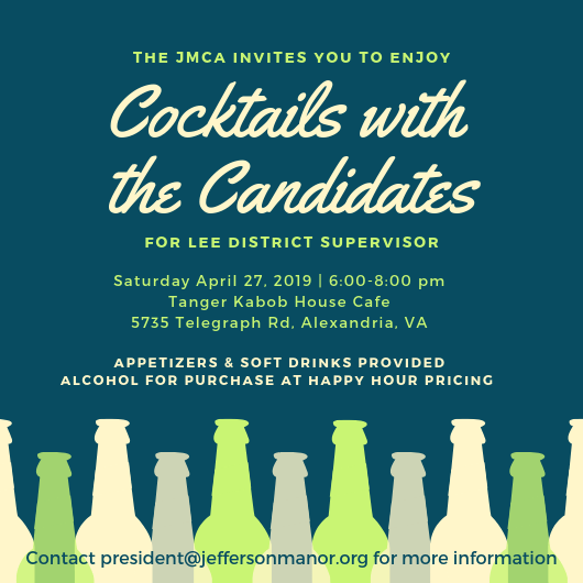 Cocktails with the Lee District Supervisor Candidates