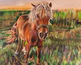 Beautiful Blonde in Union, Kentucky   24″ x 20″ acrylic on canvas