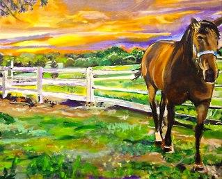 Horse in Union, Kentucky   Acrylic on Canvas