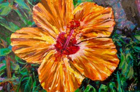 "Unbound Hibiscus | 24"" x 36"" Acrylic on Canvas ~ SOLD"