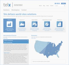 Telx website elements