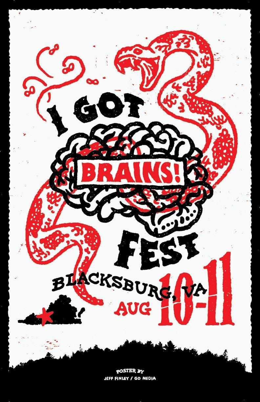 I Got Brains Fest design by Jeff Finley