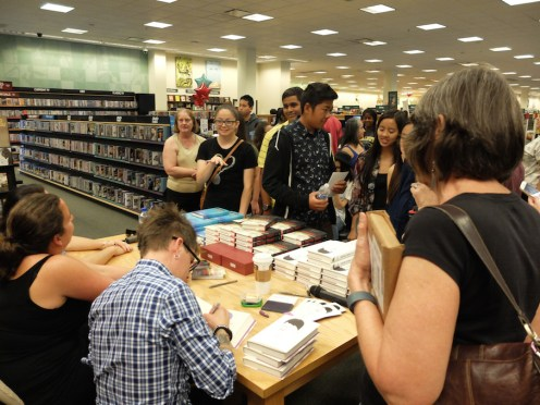 Signing books at Barnes & Noble Chino Hills