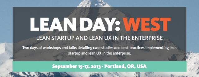 Lean Day: West - Portland, OR, Sep 15-17, 2013