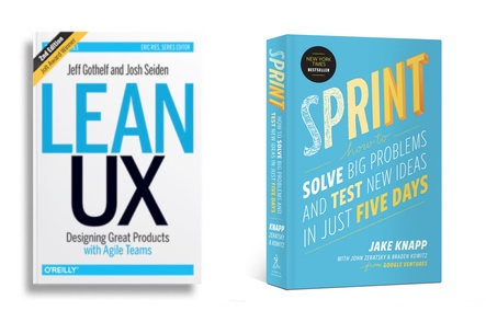 Lean UX book and Sprint book covers
