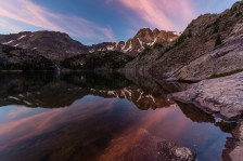 Early morning reflection in Pine Creek Lake