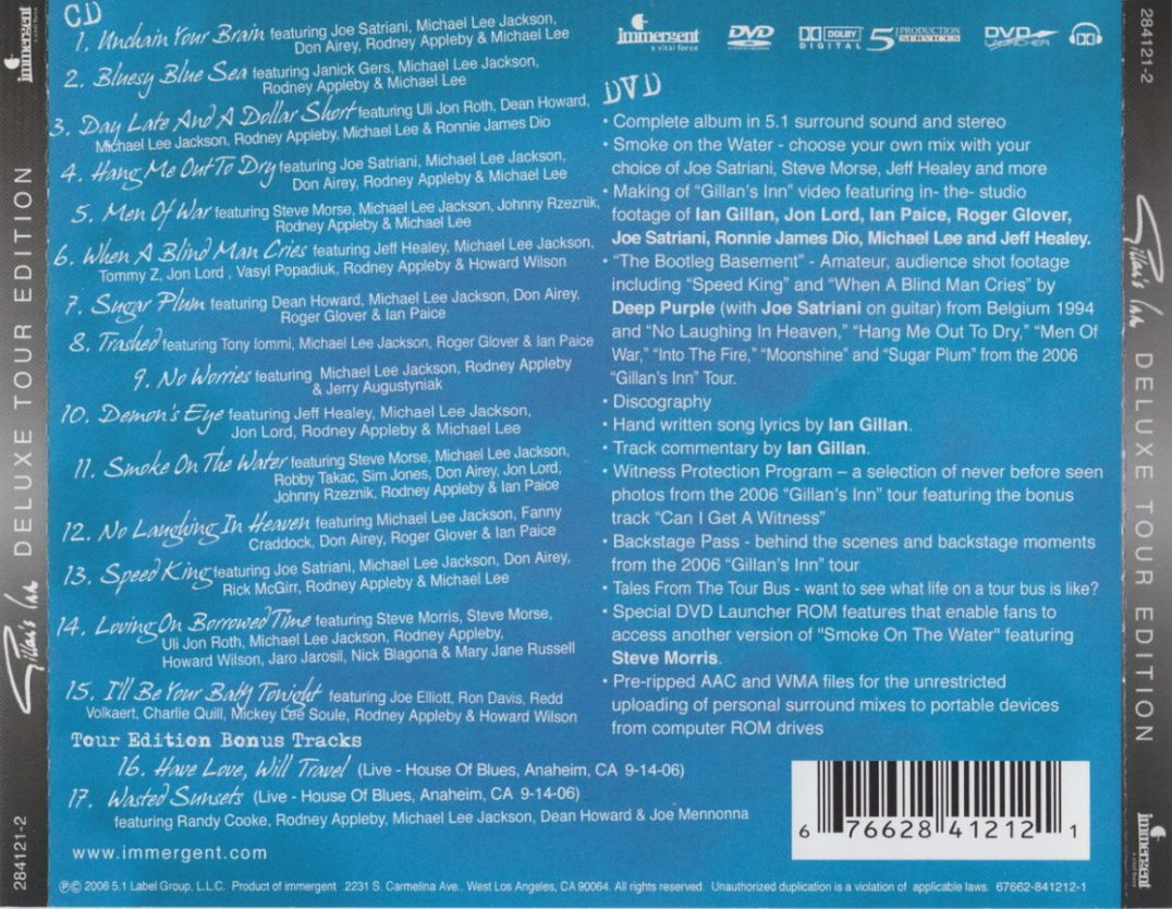 Back Cover (Deluxe Tour Edition)