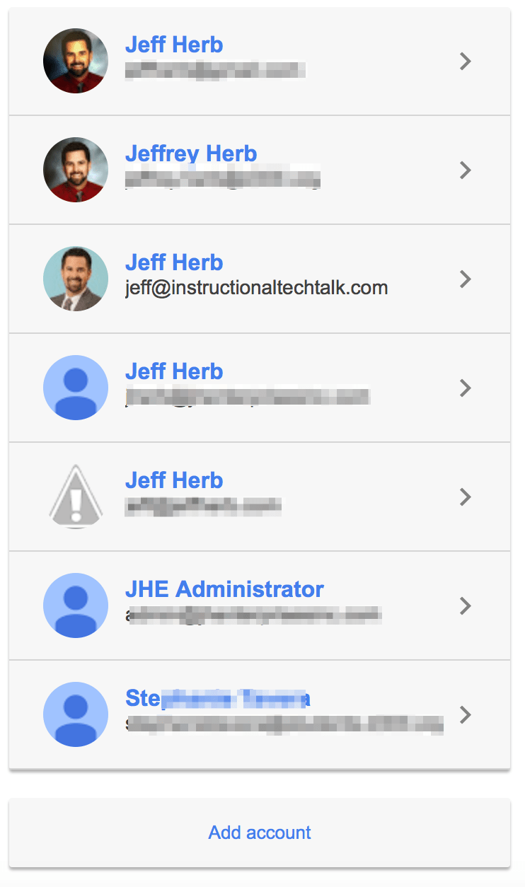Remove Google Accounts from the Sign-in List | Instructional