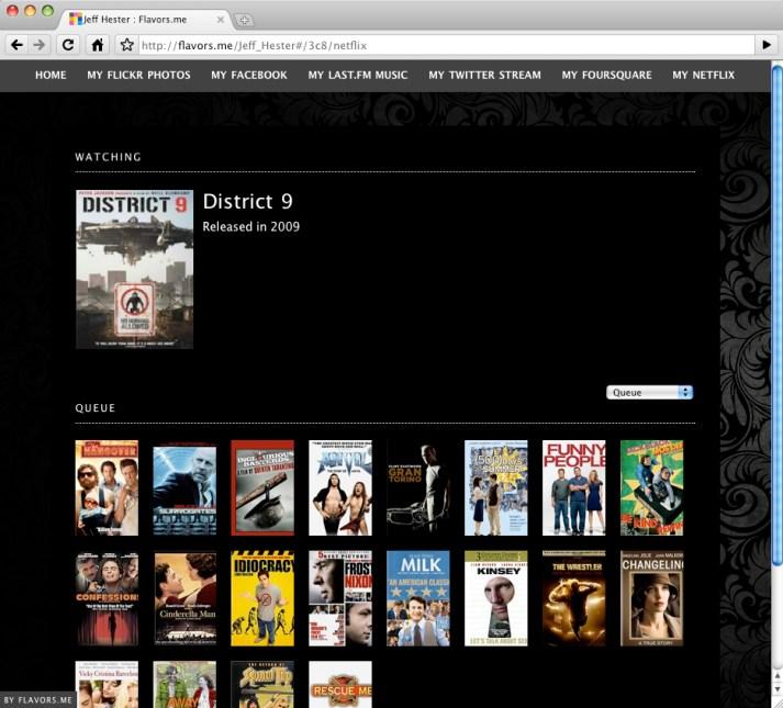 Netflix on Flavors.me