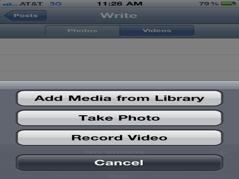 Video via the Updated WordPress iOS App