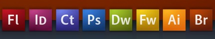 Adobe CS3 Icons in the Dock