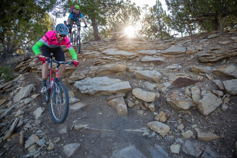 Shafer didn't let his lack of suspension slow him down through the rocks.
