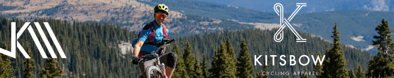 Banner advertisement for the Kitsbow Cycling apparel x Jeff Kendall-Weed partnership