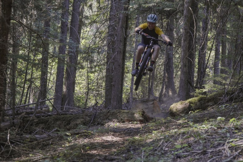 The moto trails are best enjoyed with a throttle, but here and there some of the sections are amazing on a bicycle.