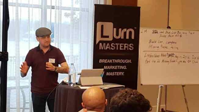 Jeff Lenney Speaking at Lurn & Anik Singal Event