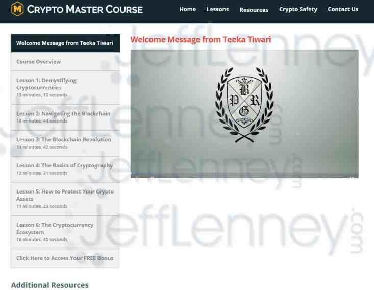 Crypto Master Course Members Area