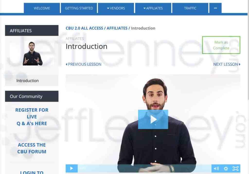 Clickbank University Homepage