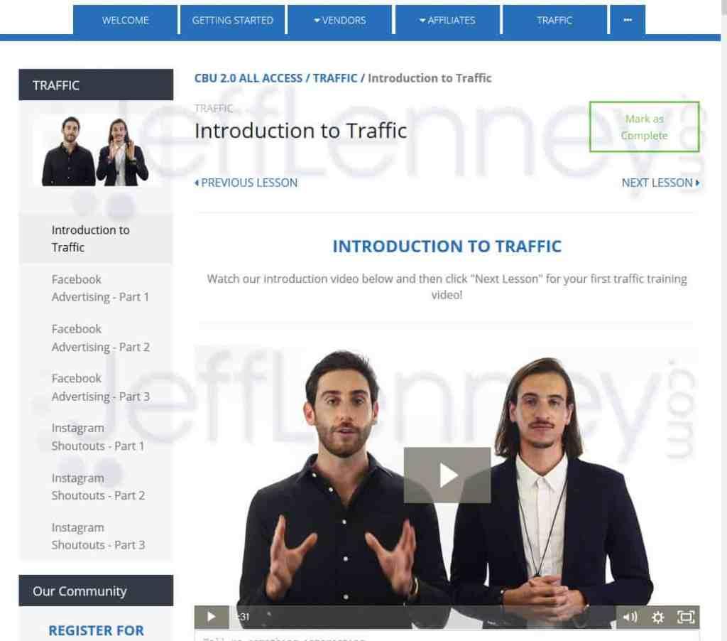 Clickbank University Traffic Training