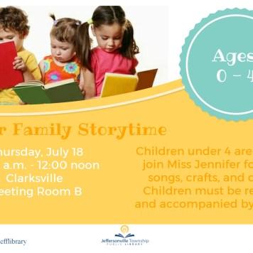 Summer Family Storytime