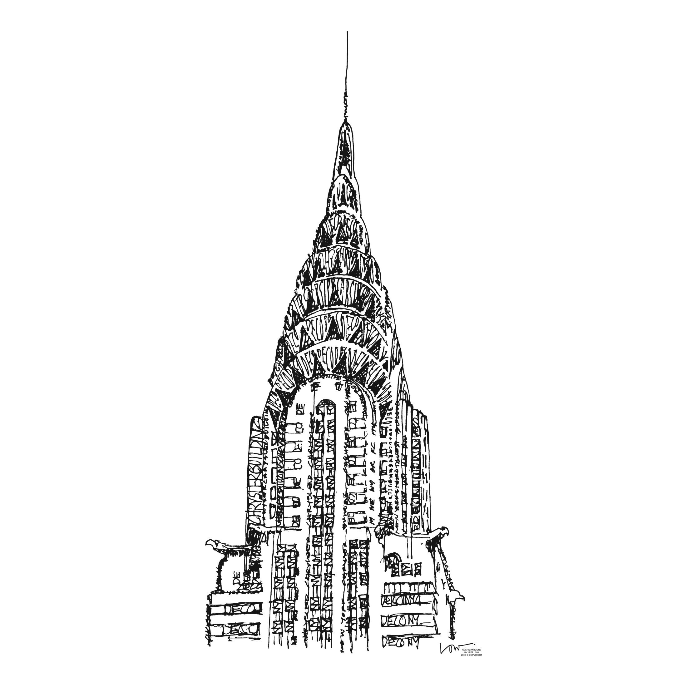 Chrysler Building Coloring Page