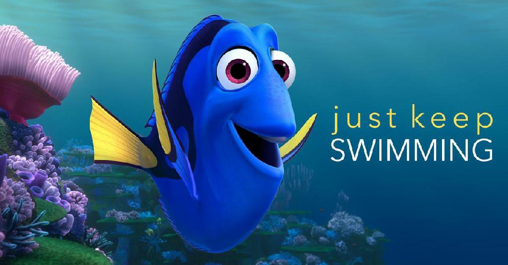 Image result for just keep swimming