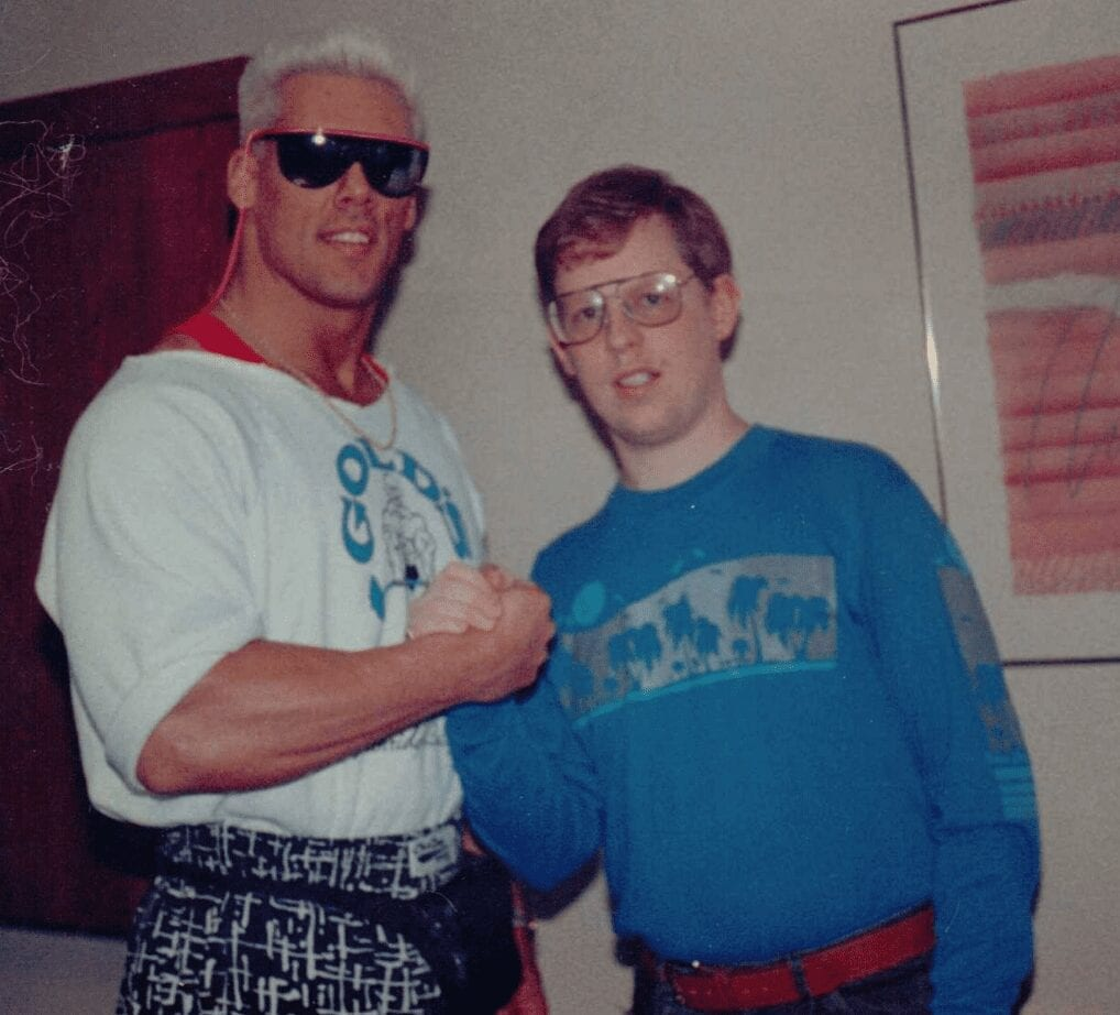 Alongside Sting back in 1988.