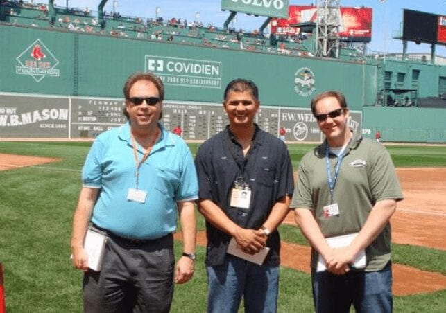A visit to Fenway with fellow scribes Chris Haft and Andrew Baggarly.
