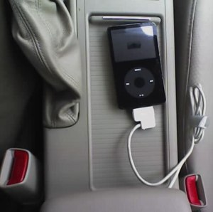 Subaru with iPod attached