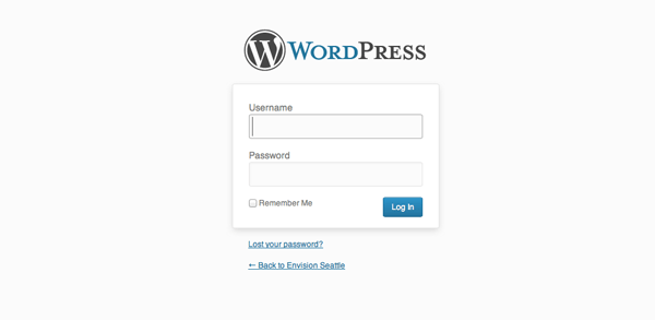 WordPress Administrator Login