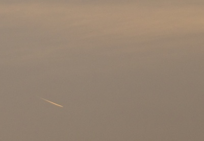 Possible Comet Seen Over Chennai, India January 2014 During Sunrise (zoomed)