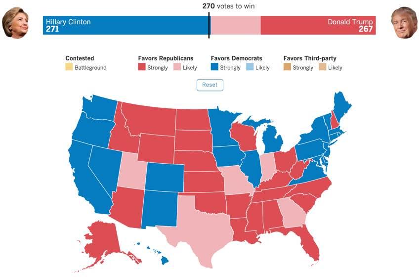 Hillary Clinton Electoral Map
