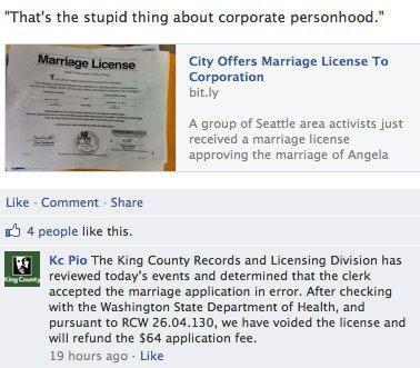 women marries corporation
