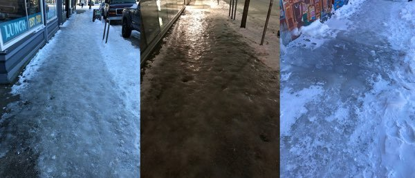 icy sidewalks of portland