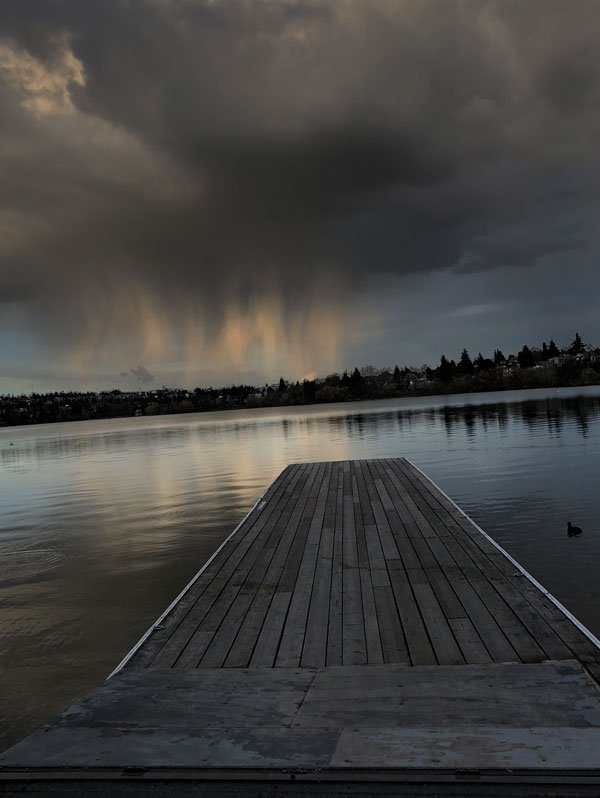 clouds at green lake