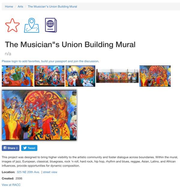 musicians union mural portland