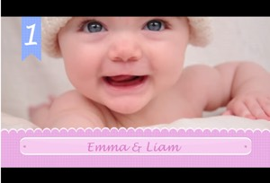 emma and liam top baby names 2017