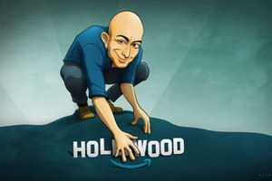 bezos as gollum hollywood sign