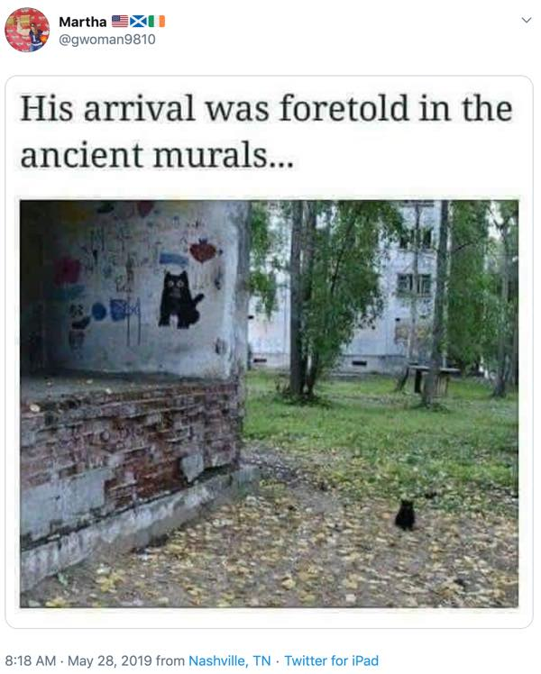his arrival was foretold in the ancient murals