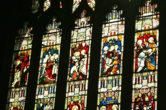 Part of the south aisle west window.