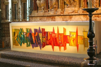 Altar frontal from the 1980s.