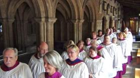 The choir ready for Evensong.